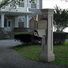 Granite Liberty Post and Mailbox Package