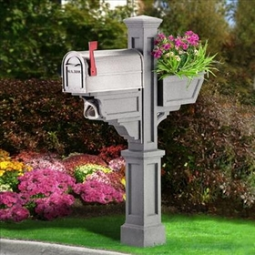 Signature Plus Mailbox Post Granite