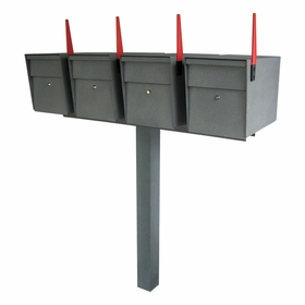 Mailboss High Security Quadruple Mailbox & Post Package (Small Packages)
