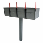Mail Boss Ultimate High Security Locking Quadruple Mailbox & Post Package