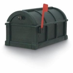 Green Sunset Pointe Rural Plastic Mailbox