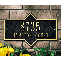 Hampton Standard Two Line Wall Plaque