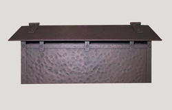 Handmade Horizontal Wall Mounted Arts and Crafts Hammered Antique Copper Mailbox