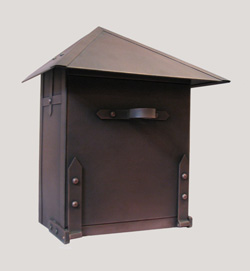 Waterglass Studios Handmade Wall Mount Copper Mailbox