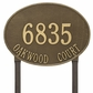 Hawthorne Oval - Estate Lawn Address Sign - Two Line