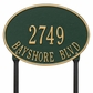 Hawthorne Oval - Standard Lawn Address Sign - Two Line