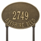 Estate Size Hawthorne OVAL Wall or Lawn Mount - (1, 2 or 3 Lines)