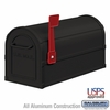 Salsbury 4850BLK Heavy Duty Rural Mailbox - Black