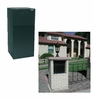 High Security Locking Mailbox with Rear Access - Black