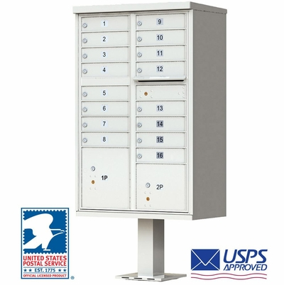 Vital 1570 Cluster Box Unit In Postal Grey - 16 Tenant Boxes
