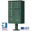 16 Door CBU Mailbox - Green