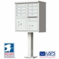 CBU - 8 Tenant Boxes Cluster Mailbox In Postal Grey