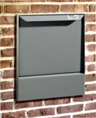 dVault Mailboxes High Security Wall Mount Locking Mailbox top