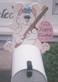 HOLIDAYS - Easter Rabbit Mailbox Topper