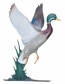 Whitehall Large Bell with Duck Ornament (Life-Like MultiColor)