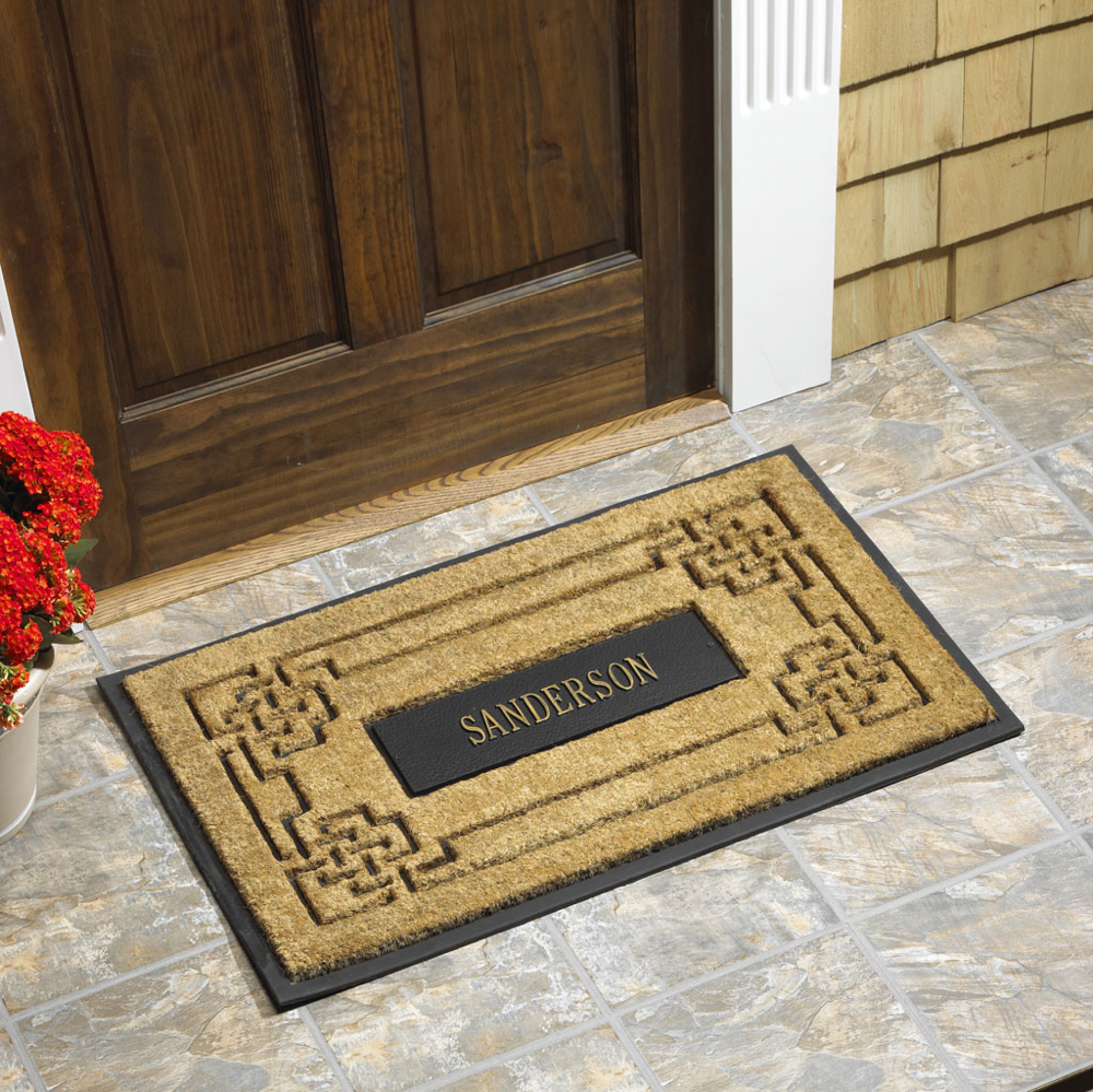 Whitehall Coir Knot Doormat Mat Personalized Cast