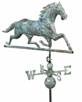 Horse Weathervane - Blue Verde Copper