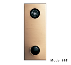 Hotel / Motel Door Chime w/ One Way Wide Angle Viewing Lens