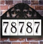 House Number Tiles