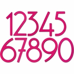 House Numbers and Letters Bougainvillea Pink Contemporary 8 Inch
