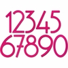 House Numbers and Letters Bougainvillea Pink Contemporary 5 Inch