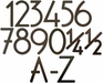 House Numbers and Letters Bronze Contemporary 8 Inch