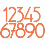 House Numbers and Letters Miami Mango Contemporary 8 Inch