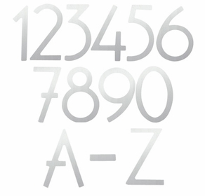 House Numbers and Letters Satin Nickel Contemporary 8 Inch
