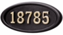 Housemark Large Oval Address Plaques Black, Black with Brass