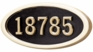 Housemark Large Oval Address Plaques Black with Brass