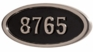 Housemark Large Oval Address Plaques Black with Satin Nickel