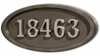 Housemark Large Oval Address Plaques Bronze, Bronze with Satin Nickel