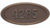 Housemark Large Oval Address Plaques Bronze with Antique Bronze