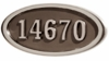 Housemark Large Oval Address Plaques Bronze with Satin Nickel