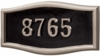 Housemark Large Roundtangle Address Plaques Black with Satin Nickel