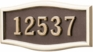 Housemark Large Roundtangle Address Plaques Bronze with Brass
