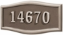 Housemark Large Roundtangle Address Plaques Bronze with Satin Nickel
