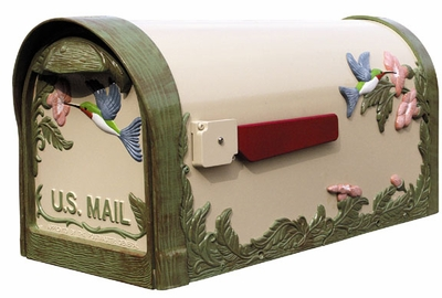 Humingbird Curbside Mailbox in Natural