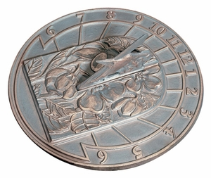 Whitehall Hummingbird Sundial - French Bronze