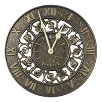 Whitehall Ivy Silhouette Clock - Copper Verdi