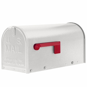 Janzer Mailbox - Residential Post Mount in Textured White