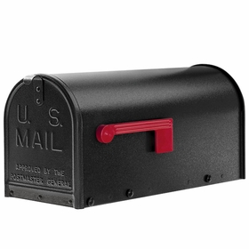 Janzer Mailbox - Residential Post Mount in Textured Black