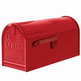 Janzer Mailbox - Residential Post Mount in Gloss Red