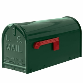Janzer Mailbox - Residential Post Mount in Gloss Green