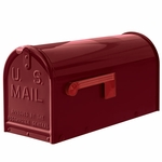 Janzer Mailbox - Residential Post Mount in Gloss Burgundy