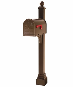 Janzer Configurable Mailbox Post - Textured Bronze