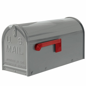 Janzer Mailbox - Residential Post Mount in Gloss Grey