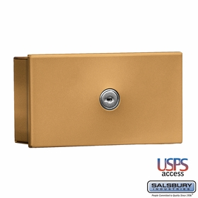 Salsbury 1080BU Key Keeper Surface Mounted Brass Finish USPS Access