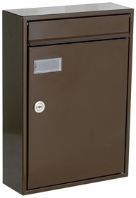 Knobloch Houston Locking Surface Mount Mailbox in Chocolate Brown