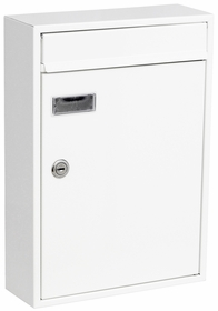 Knobloch Houston Locking Surface Mount Mailbox in Pure White